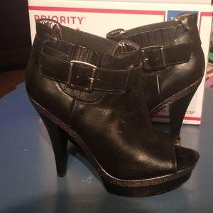 Women Steve Madden Boot Heels Open Toe